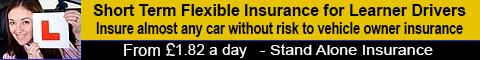 Learner driver insurance banner